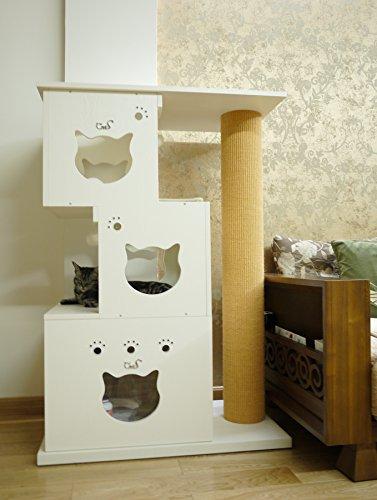 Design Kratzbaum Aus Holz Und Wellpappe: Design-Kratzbaum Multi Cat TreeDesign-Kratzbaum Multi Cat